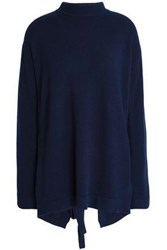 Ellery Open Back Merino Wool Sweater Navy