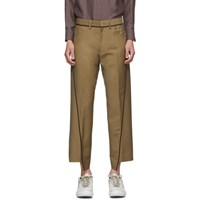 Lanvin Tan Asymmetric Trousers