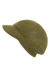 Women's Echo Chunky Knit Newsboy Hat Green Olive Drab Heather