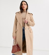 Glamorous Tall Double Breasted Coat Brown