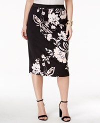 Alfani Plus Size Printed Pencil Skirt Only At Macy's Timeless Floral