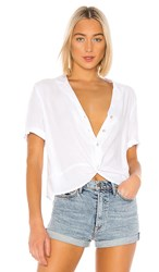 Bcbgeneration Boxy Button Down In White. Optic White