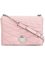 Bally Quilted Shoulder Bag Pink Purple