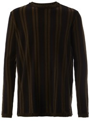 Ziggy Chen Double Striped Jumper Black
