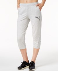 Puma Elevated Cropped Sweatpants Light Gray Heather