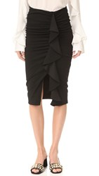 Veronica Beard Drew Cascade Ruffle Skirt Black