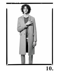 Valentino Long Rockstud Two Button Wool Coat Camel