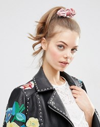 Asos Limited Edition Soft Velvet Hair Bows Pink