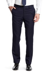 Broletto Wide Leg Flat Front Wool Pant 30 34 Inseam Blue