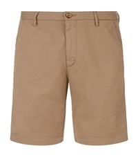 Boss Rice Gabardine Slim Fit Shorts Male Beige