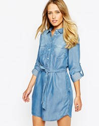 Oasis Denim Shirt Dress Blue