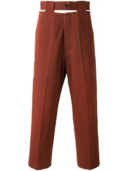Marni Cut Out Waistband Trousers Red