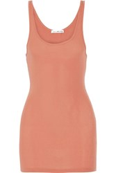James Perse The Daily Ribbed Stretch Supima Cotton Tank Coral