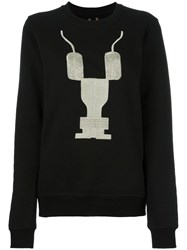 Rick Owens Drkshdw Embroidered Logo Sweatshirt Black