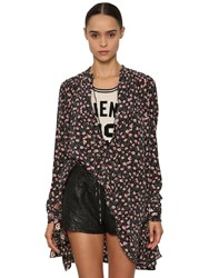Zadig And Voltaire Ruched Embellished Silk Cady Shirt Multicolor