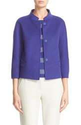 Armani Collezioni Women's Double Face Wool And Cashmere Jacket