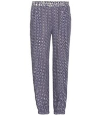 Velvet Endy Printed Trousers Blue