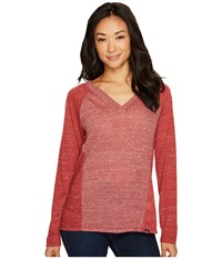 Prana Jinny Top Woodland Red Long Sleeve Pullover