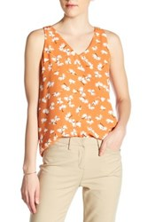 Philosophy Sleeveless Double Layer Blouse Orange