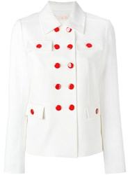 Tory Burch Double Breasted Blazer White