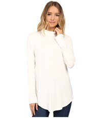 Culture Phit Hanna Mock Neck Top Ivory Women's Clothing White