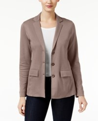 Styleandco. Style Co. Three Button Blazer Only At Macy's Warm Taupe