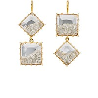 Renee Lewis Women's Mismatched Shake Double Drop Earrings No Color