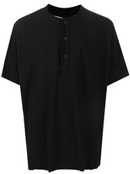 Individual Sentiments Button Up T Shirt Black