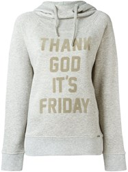 Woolrich 'Thank God It's Friday' Hoodie Grey