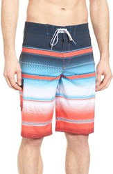 Billabong Men's Big And Tall All Day X Stripe Board Shorts Red