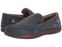 Acorn Ellsworth Suede Moc Mineral Slippers Blue