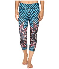 Mara Hoffman Starbasket Cropped Leggings Teal Multi Women's Casual Pants