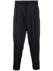 Woolrich Cropped Tailored Trousers Blue