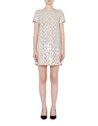 French Connection Snow Sequin Embellished Dress Grey