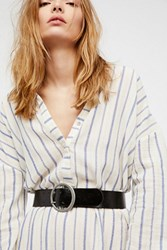 Free People Womens Gigi Patent Belt