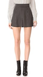 Marc Jacobs Polka Dot Tap Shorts Black Cream