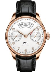 Iwc Iw503504 Portugieser Alligator Leather And Rose Gold Watch