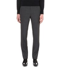Tom Ford Regular Fit Wool Trousers Grey