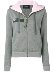 Mr And Mrs Italy Pegasus Embroidered Hoodie Grey