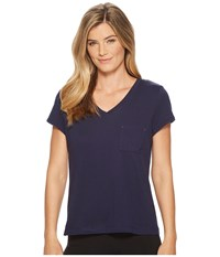 Nautica Solid Short Sleeve Tee Navy Women's T Shirt