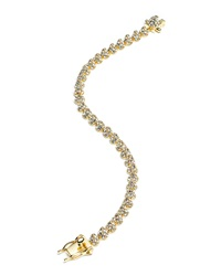 Eddie Borgo Yellow Gold Plated Pave Crystal Mini Cone Bracelet