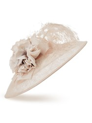 Jacques Vert Two Tone Flower Hat Neutral