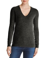 Bloomingdale's C By V Neck Cashmere Sweater 100 Exclusive Dark Gray