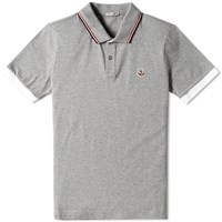 Moncler Tipped Polo Grey