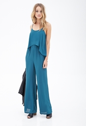 Forever 21 Flounced Chiffon Jumpsuit