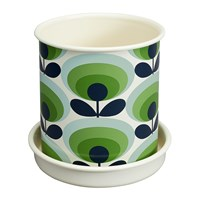 Orla Kiely Large Oval Flower Plant Pot Apple