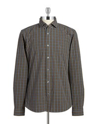 Strellson Plaid Sportshirt Brown