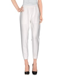 Nlst Trousers Casual Trousers White