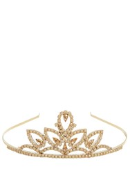 Red Valentino Crystals Embellished Tiara Gold