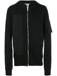 Lost And Found Rooms Pocket Zipped Sweatshirt Cotton Black